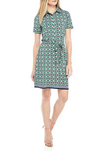 Sophie Max Short Sleeve Polo Dress with Belt