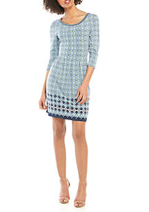 Sophie Max 3/4 Sleeve Fit and Flare Dress