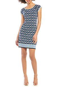 Sophie Max Cap Sleeve Shift Dress