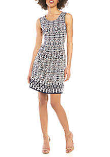 Sophie Max Sleeveless Floral Fit and Flare Dress