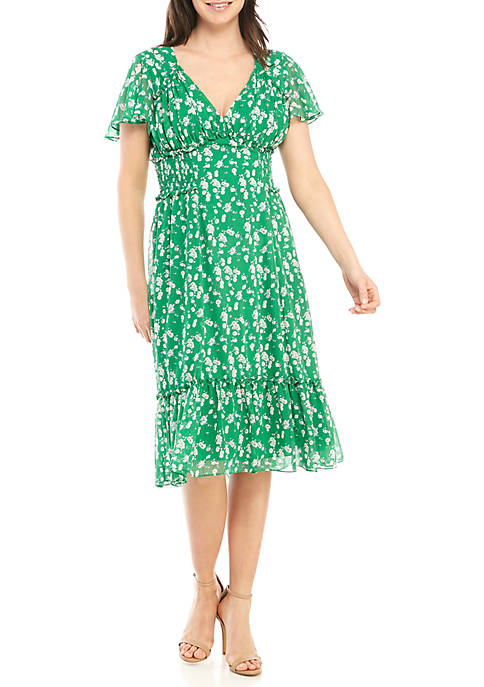 Floral A Line Georgette Dress