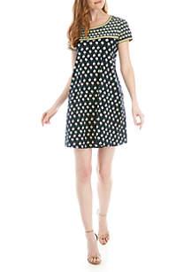 Sophie Max Short Sleeve Shift Dress