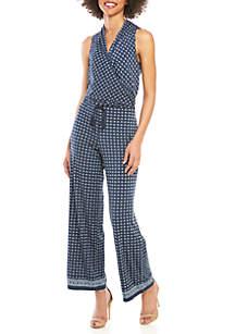 9188a15400d6 ... Sophie Max Sleeveless V Neck Print Jumpsuit
