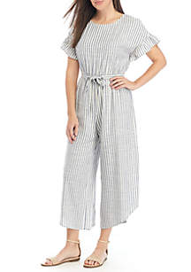 b2b0f652428 ... June   Hudson Short Ruffle Sleeve Stripe Crop Jumpsuit