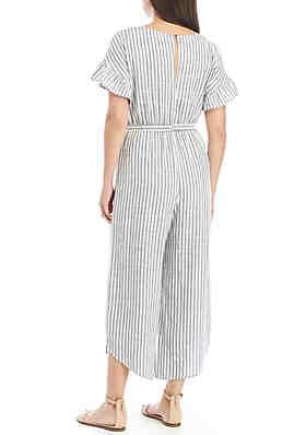 d3a691862be ... June   Hudson Short Ruffle Sleeve Stripe Crop Jumpsuit