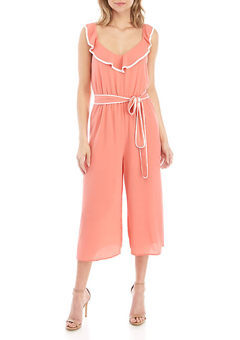 Solid Sleeveless Jumpsuit