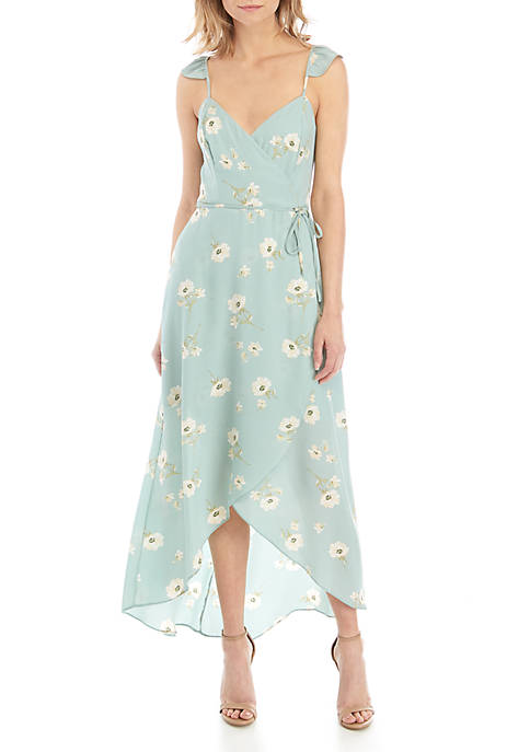 June & Hudson Floral Wrap Dress