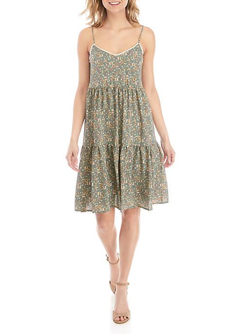 June & Hudson Sleeveless Floral Shift Dress