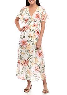 June & Hudson Floral Midi Dress