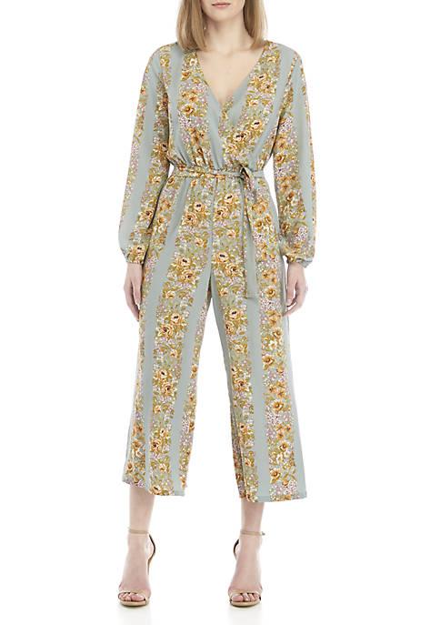 June & Hudson Long Sleeve Floral Jumpsuit