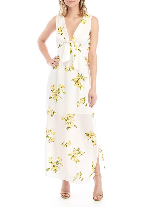 June & Hudson Sleeveless V Neck Floral Maxi