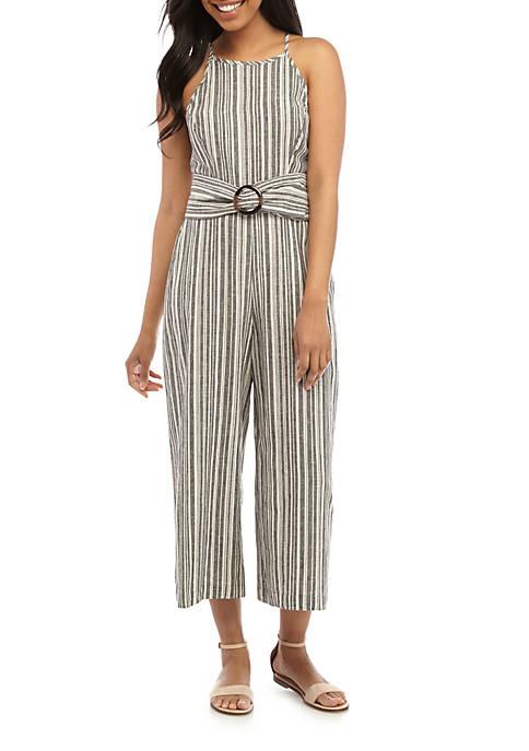 June & Hudson Sleeveless Stripe Jumpsuit