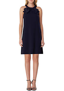 75733d3d0527 ... Tahari ASL Sleeveless Halter Ruffle Crepe Dress