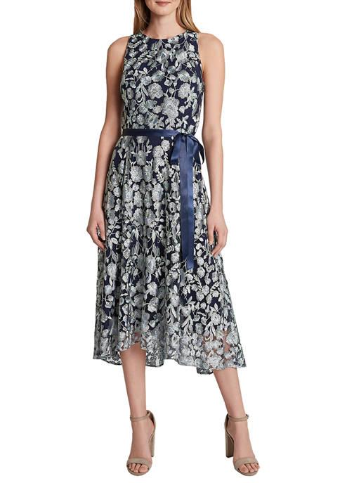 Womens Sleeveless Flare Skirt Dress