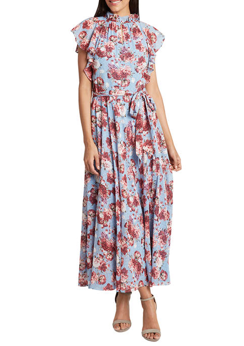 Womens Short Sleeve Floral Dress