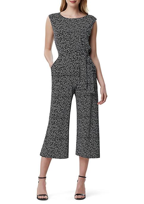 Cap Sleeve Printed Jersey Jumpsuit