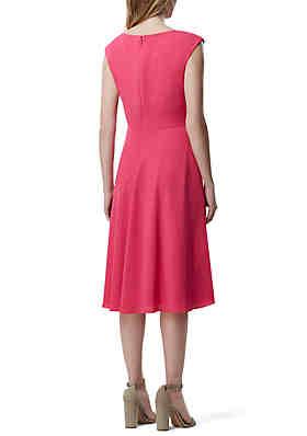 0941cf1bb34 ... Tahari ASL Sleeveless Crepe Side Tie Fit and Flare Dress