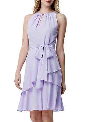 24b2a1a2b58 Tahari ASL Sleeveless Crepe Fit and Flare Dress ...