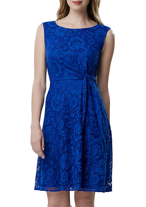 Tahari ASL Sleeveless Lace Fit and Flare Dress