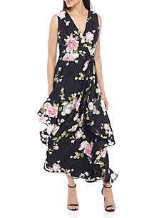 acd9c318 Tahari ASL Sleeveless Crepe Jumpsuit · Tahari ASL Sleeveless Floral Chiffon  Maxi Dress