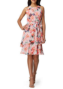 8ccf7b3409 Tahari ASL Sleeveless Printed Charmeuse Dress · Tahari ASL Sleeveless Floral  Chiffon Tier Dress