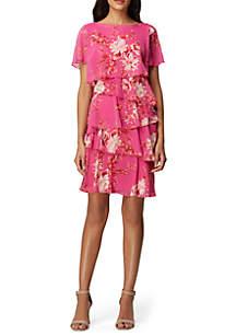 090ccb70ea Tahari ASL Sleeveless Pebble Crepe Printed Wrap Dress · Tahari ASL Floral  Printed Chiffon Tier Dress