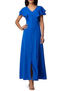 Tahari ASL Crepe Maxi Dress
