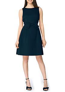 0a6461e4fee4f ... Tahari ASL Sleeveless Front Tie A Line Dress