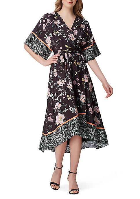 3/4 Kimono Sleeve Printed Dress