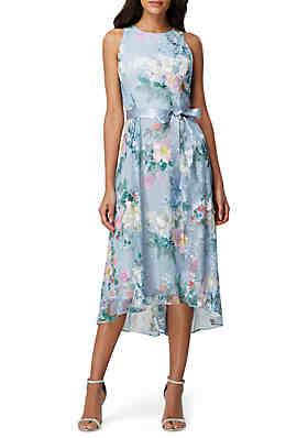 3adccfcf9 Tahari ASL Sleeveless Printed Mesh Dress ...