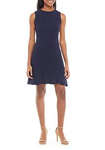 Julia Jordan Sleeveless Fit and Flare Dress