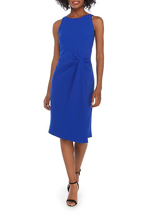 Julia Jordan Sleeveless Side Knit Sheath Dress