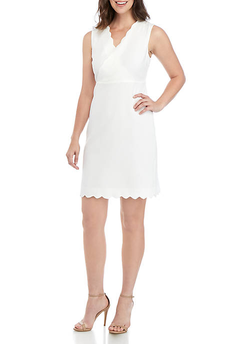 ABS® Allen Schwartz Sleeveless V Neck Sheath Dress
