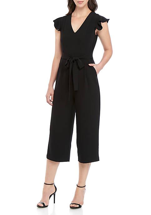 ABS® Allen Schwartz Crop V Neck Jumpsuit