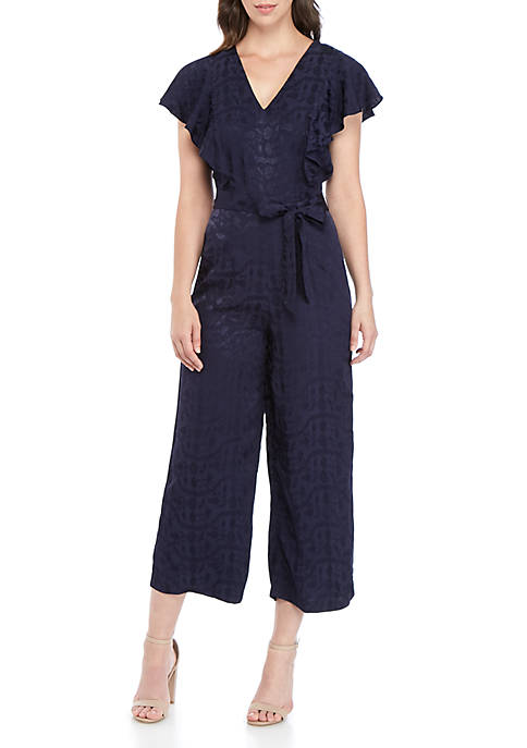 ABS® Allen Schwartz Crop V Neck Jumpsuit