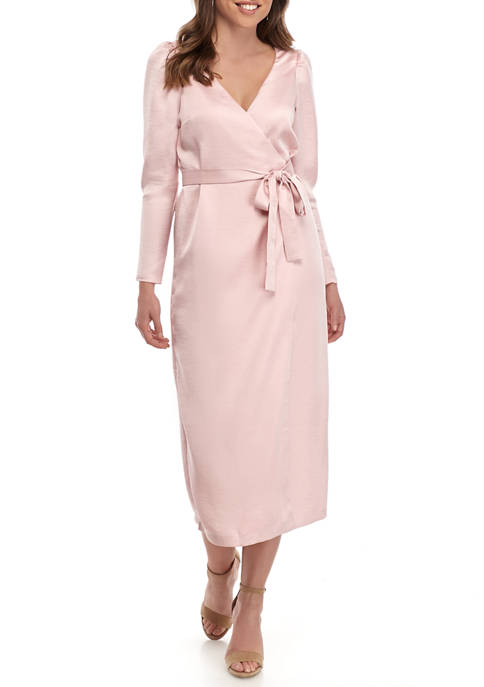 Womens Dove Wrap Midi Dress