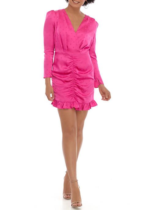 Womens Phoenix Ruched Mini Dress