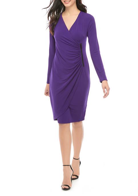 Womens Zip Wrap Dress