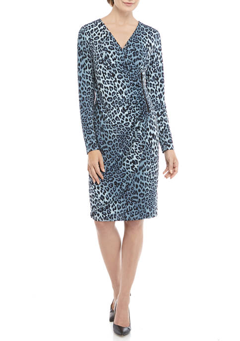 CHEZTU Womens Zipper Wrap Dress