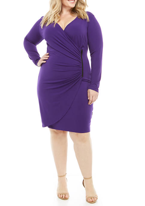 Plus Size Side Ruched Waist Dress