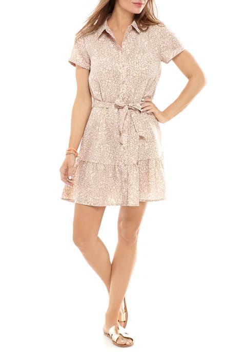 Madison Womens Ruffle Bottom Shirt Dress