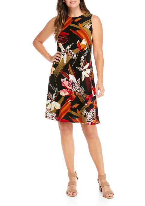 Womens Sleeveless Floral Dress