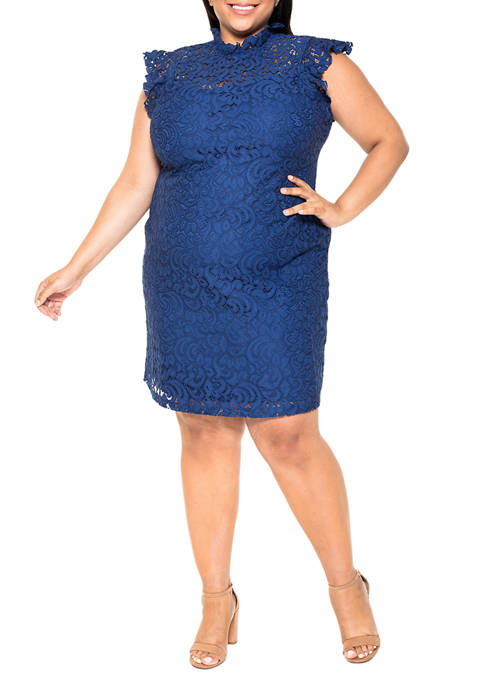 Alexia Admor Plus Size Kendall Lace Cap Sleeve