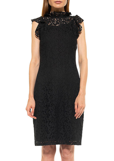 Alexia Admor Womens Kendall Lace Sheath Dress