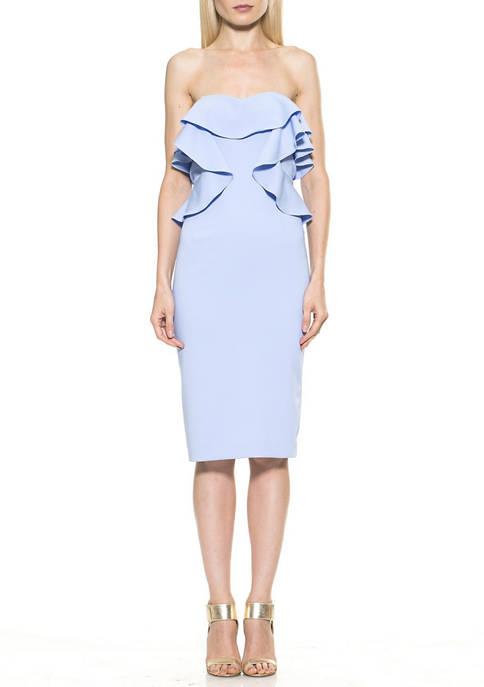 Alexia Admor Womens Strapless Dress