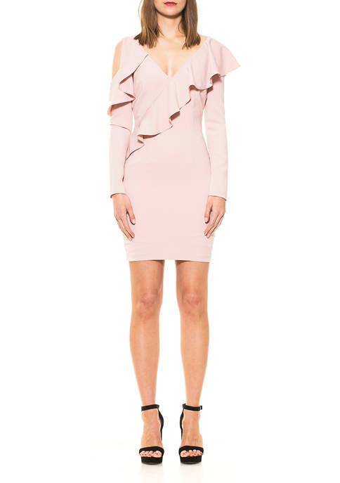 Alexia Admor Womens Clara Ruffle Dress