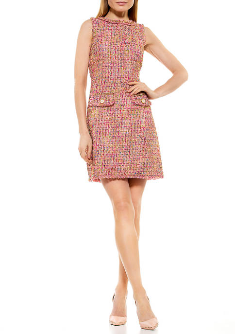 Alexia Admor Womens Klara Tweed Dress