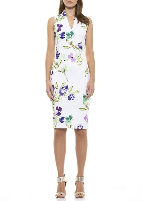 Alexia Admor Womens Corine Midi Dress