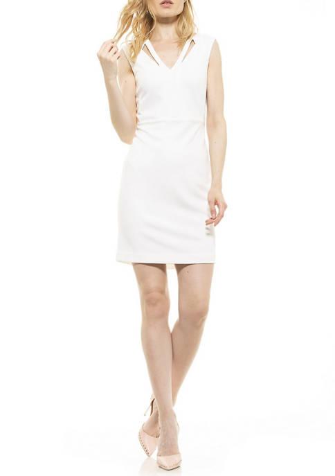 Alexia Admor Womens Jayleen V-Neck Dress