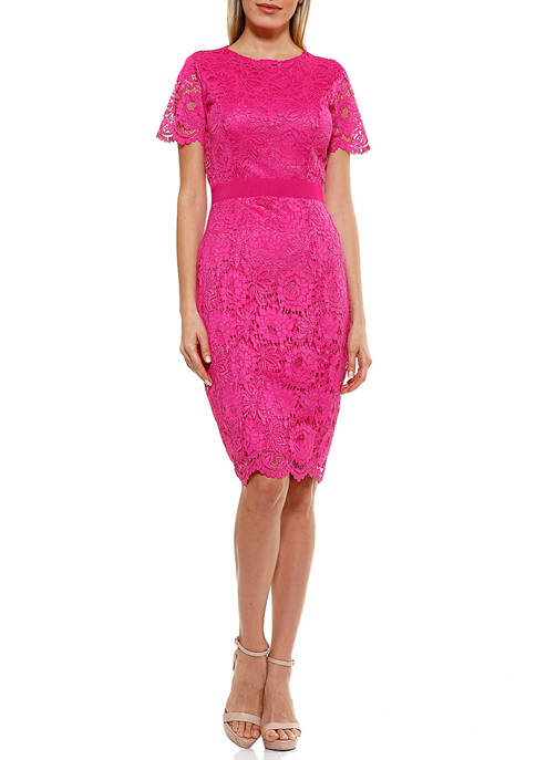 Alexia Admor Womens Delora Lace Dress